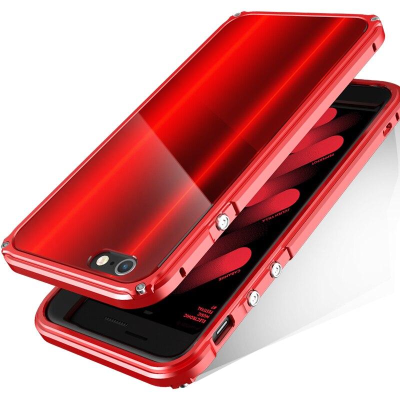 bilder für Bobyt für iphone 6 6s 6 plus 6 splus auto frame mit zurück Schützende Panel Design Hybrid Gehäuse Fundas Cape Rot für iPhone6s