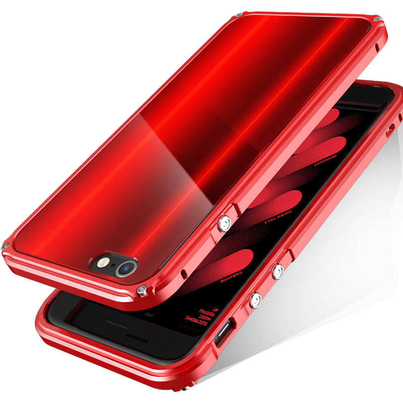 imágenes para Bobyt para iphone 6 6s 6 plus 6 splus parachoques marco con Panel de Diseño Híbrido de Protección Carcasa Fundas Capa Roja para iPhone6s