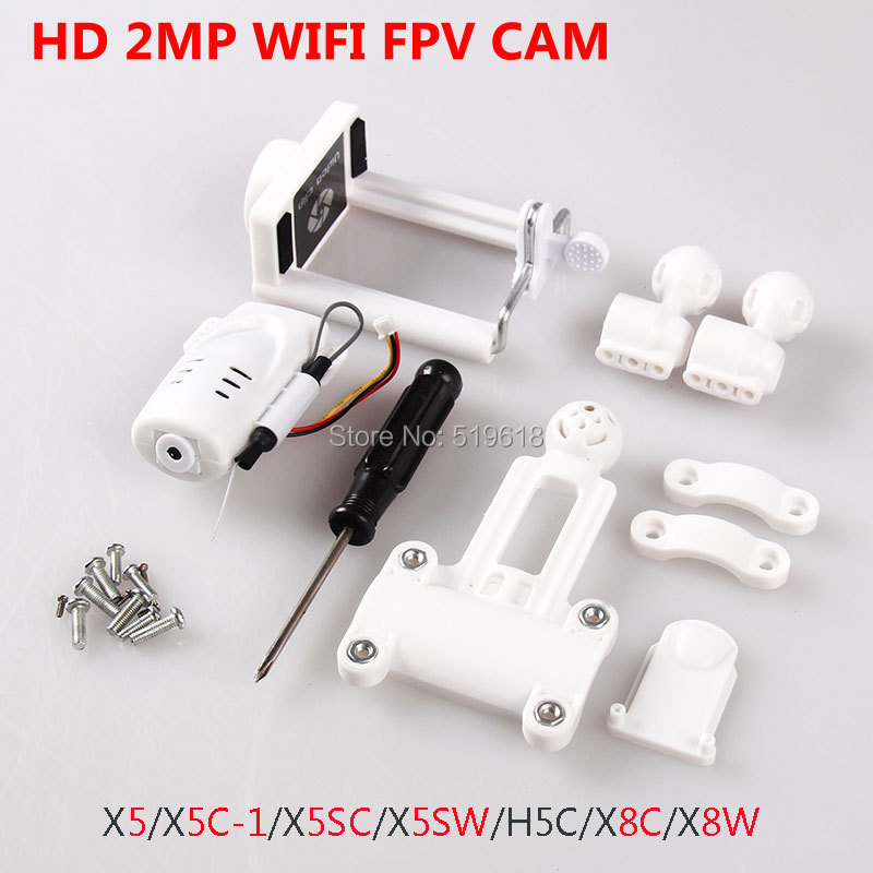 HD 2MP  WIFI FPV  camera Syma X5 X5C X5SC X5SW Drone JJRC H5C RC Quadcopter Phone Holder Cilp recambio piezas DE accesorieos DE syma x5sc fpv wifi hd video camera 2mp aerial drone rc drone rc airplane quadcopter remote control toys kids birthday gift