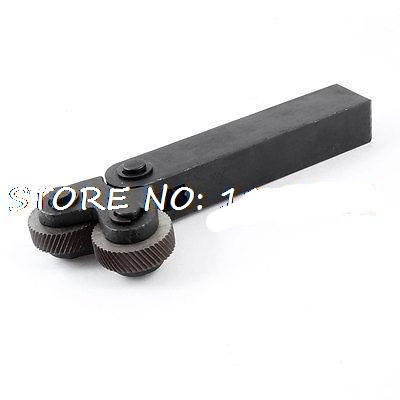 1pcs Diagonal 0.3/0.4/0.5/0.6/0.8/1.0/1.2/1.5/1.6/1.8/2.0mm Pitch 26x8x8mm Double Wheels Linear Knurling Tool diagonal 1 6mm pitch 26mm double wheels linear knurling tool