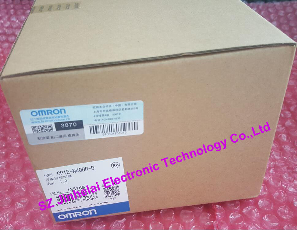 100% New and original  CP1E-N40DR-D  OMRON PLC new and original e3x da11 s omron optical fiber amplifier photoelectric switch 12 24vdc