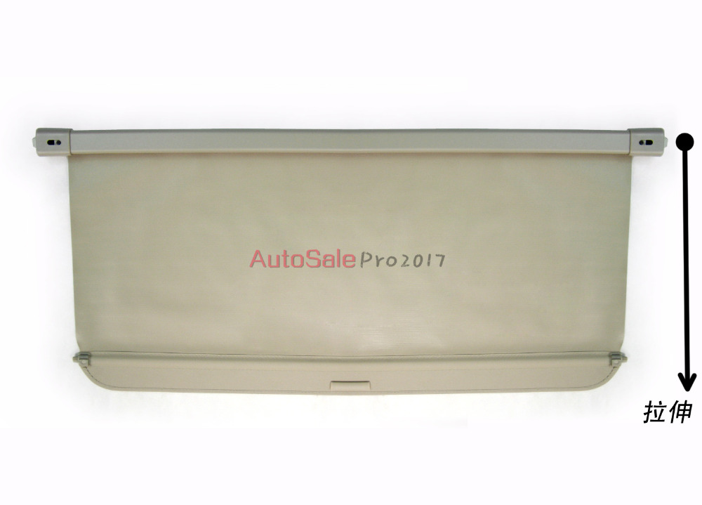 Aluminium alloy + Fabric Rear Trunk Security Shield Cargo Cover For Mitsubishi Outlander 2007 2008 2009 2010 2011 2012 car rear trunk security shield shade cargo cover for mitsubishi outlander 2007 2008 2009 2010 2011 2012 black beige