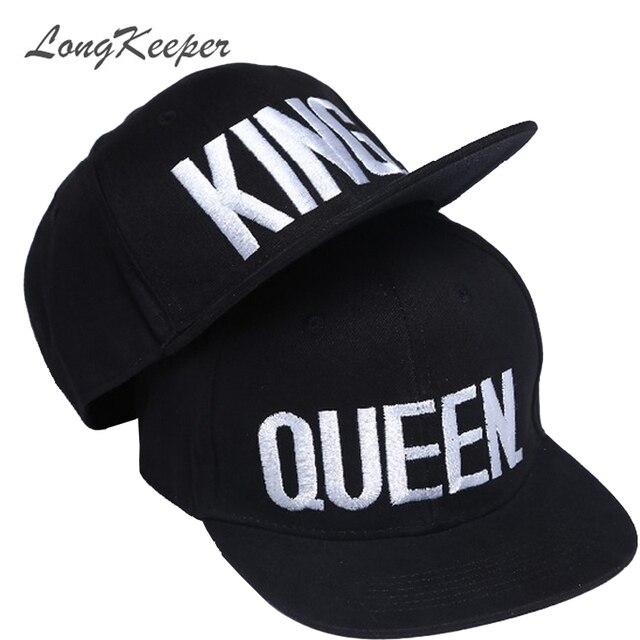 long keeper king queen embroidery snapback hat acrylic men women