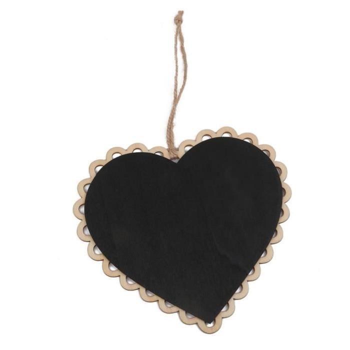 10 Pieces Mini Hanging Chalkboard Wood / Slate Chalkboard Black Hanging Wood Writable Erasable Blackboard In Message Board Woo