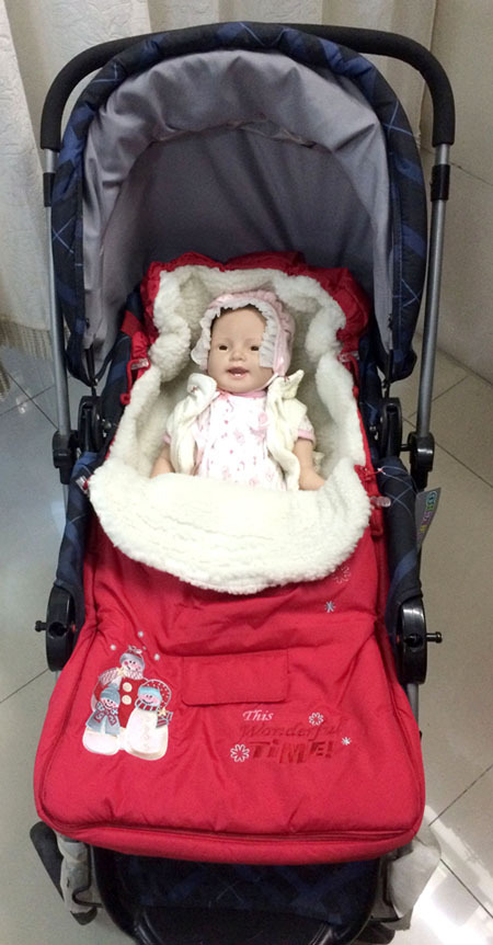 ФОТО Boys Girls Little Baby Newborns Sleeping Bag Stroller Cart Basket Thick Winter Wool Multifunctional Sleeping Bag Free Shipping