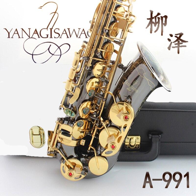 Professional Japan Yanagisawa Gold Plated Carving Saxophone Alto Eb Sax Brass Instruments Music Saxofone Alto A-991 alto saxophone musical instruments high quality japan yanagisawa w01 a 901 e flat saxophone yanagisawa alto sax professional