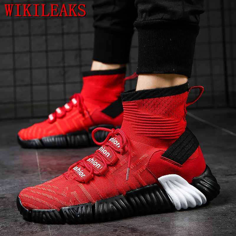 2018 high top star shoes men luxury brand breather mesh white sneakers designer mens shoes casual hip hop shoes zapatos hombre pu leather punk hip hop shoes men white solid color shoes platform flats fashion lace zipper man high top casual zapatos hombre