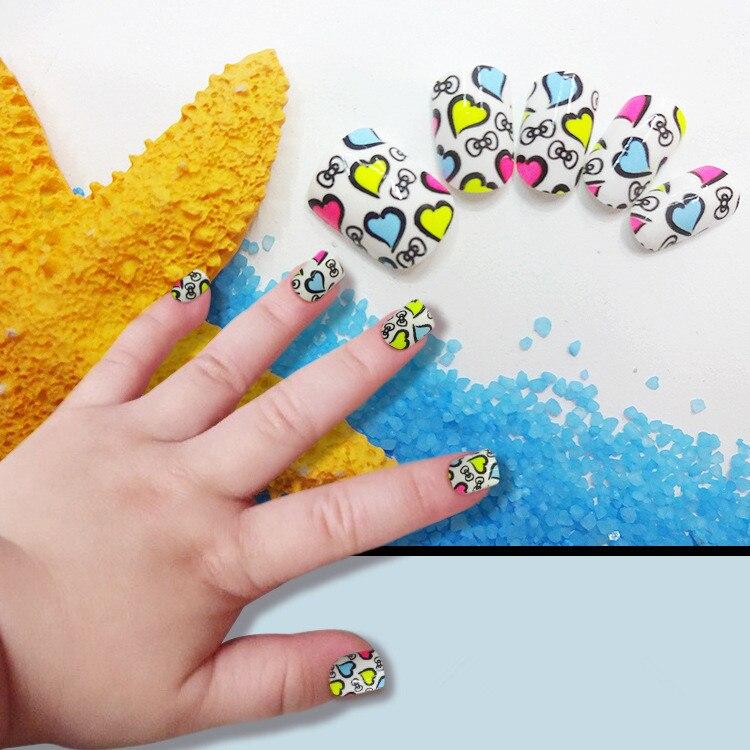 Fine Fake Nails For Children Frieze - Nail Paint Design Ideas ...