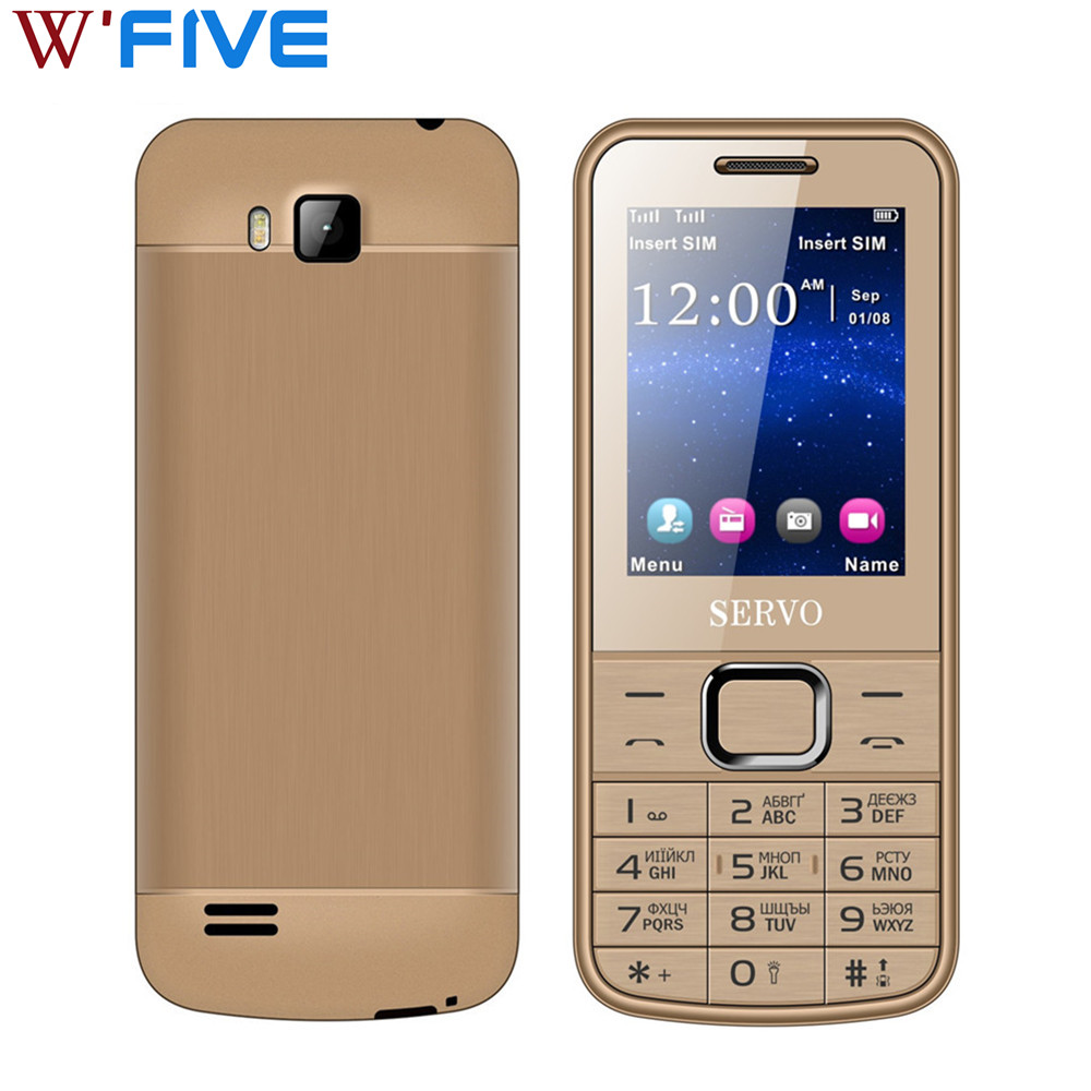 SERVO 225 Original Phone Dual SIM Cards 2.4 Inch Screen  Double Flash Bluetooth Memory Card Slots Flashligh MP3 FM Radio Phone(China)