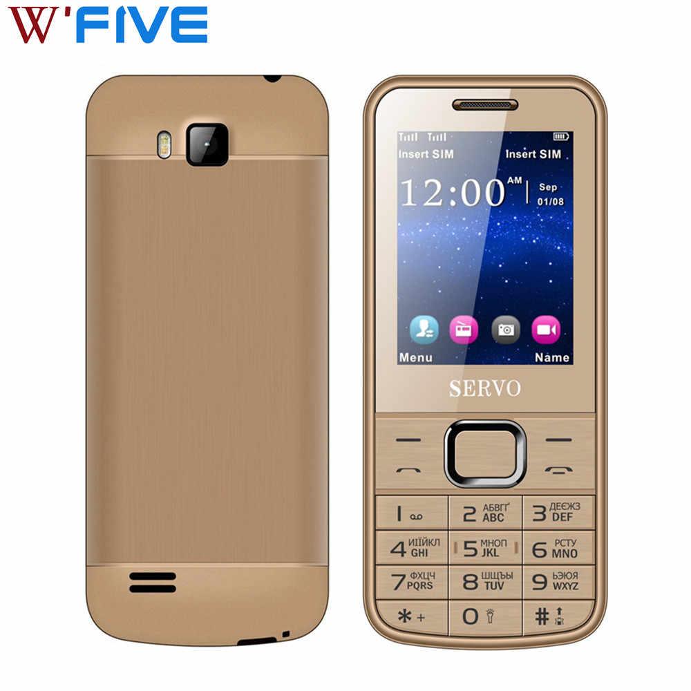 SERVO 225 Nguyên Bản PhoneDual Sim Màn Hình 2.4 inch Đôi đèn flash Bluetooth Có Khe Cắm Thẻ Nhớ Đèn Pin MP3 Đài FM Điện Thoại