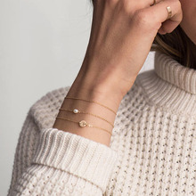 aiboduo Womens Bracelet 2019 Fashion Simple Letter Alloy Gold Color Women Christmas Gifts Accessories Jewelry B00037