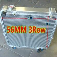 56 мм 3 ряда алюминиевый радиатор для гоночного автомобиля для Toyota Hilux SURF KZN130 1KZ-TE 3,0 TD 1993-1996 в/MT 94 95 96 93