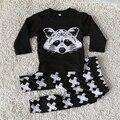 Novo lazer outono bebê menino roupas de manga longa definir crianças pano terno top T shirt + calças crianças terno Do Bebê da alta qualidade