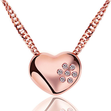 цены 2019 New Heart Rose Gold Pendant Necklace Small Heart Necklaces Bijoux For Women Fashion Jewelry Collarbone Pendant Necklace