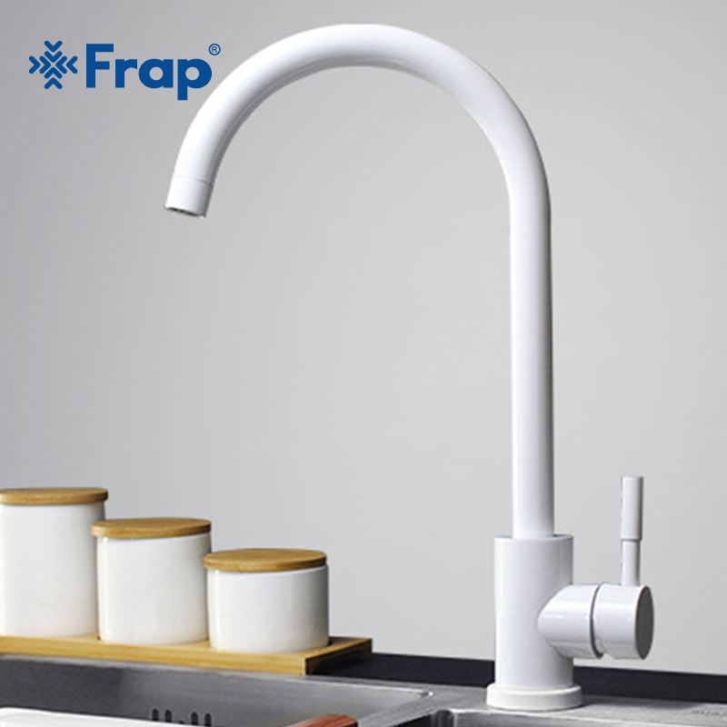 Frap Kitchen Faucet 304 Stainless Steel Swivel Faucet 360 Degree Rotation Faucet Single Handle Single Hole Faucet Mixers Y40084