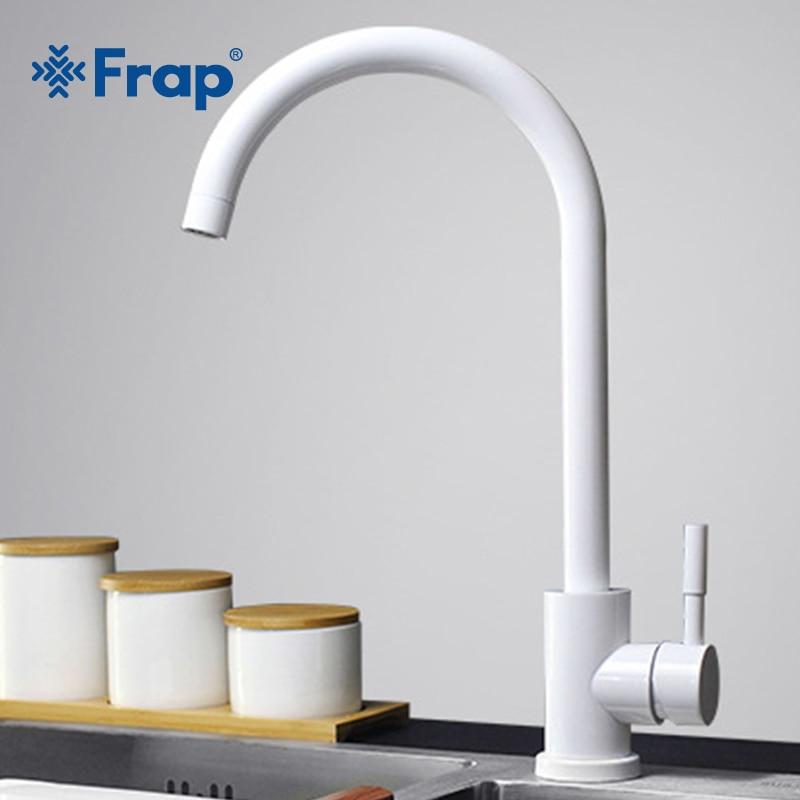 Frap Kitchen Faucet 304 Stainless Steel Swivel Faucet 360 Degree Rotation Faucet Single Handle Single Hole Faucet Mixers Y40084