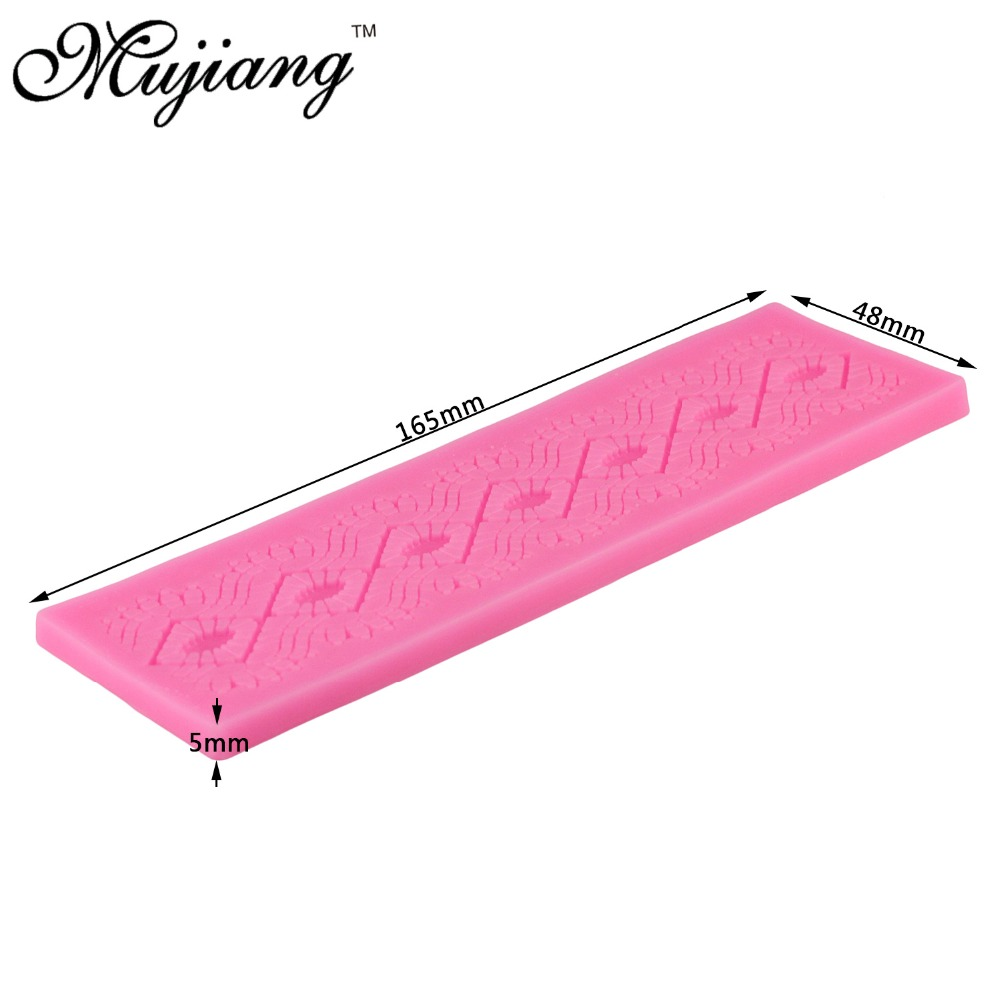 Mujiang Diamond Pattern Design Silicone Lace Mat Wedding Fondant ...