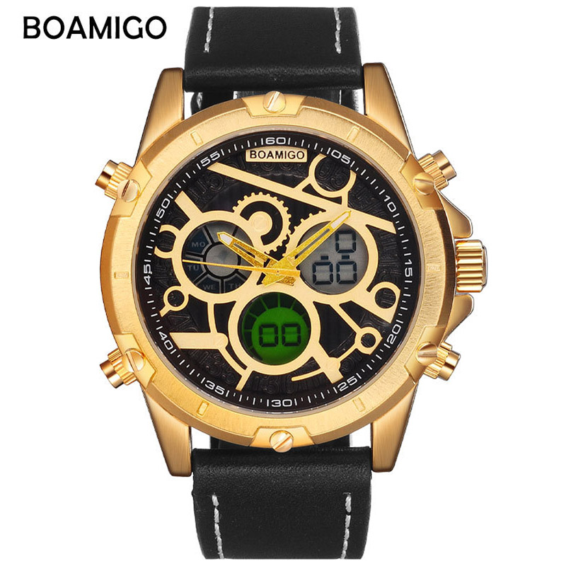 Mens Watches Top Brand Luxury Sport Quartz Dual Display Digital Military Watch Men Fashion Waterproof Wristwatch High Quality