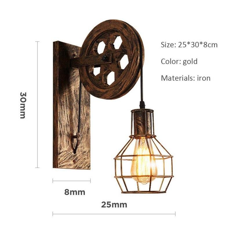 Image 2 - Retro Loft Light Pendant Suspension Light Lifting Pulley Wall Lamp Restaurant Aisle Pub Cafe Light Bra Sconce Lantern-in Pendant Lights from Lights & Lighting