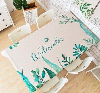 Толстый хлопок и лен art садовых растений зеленый лист скатерть журнальный столик круглый стол семьи скатерть