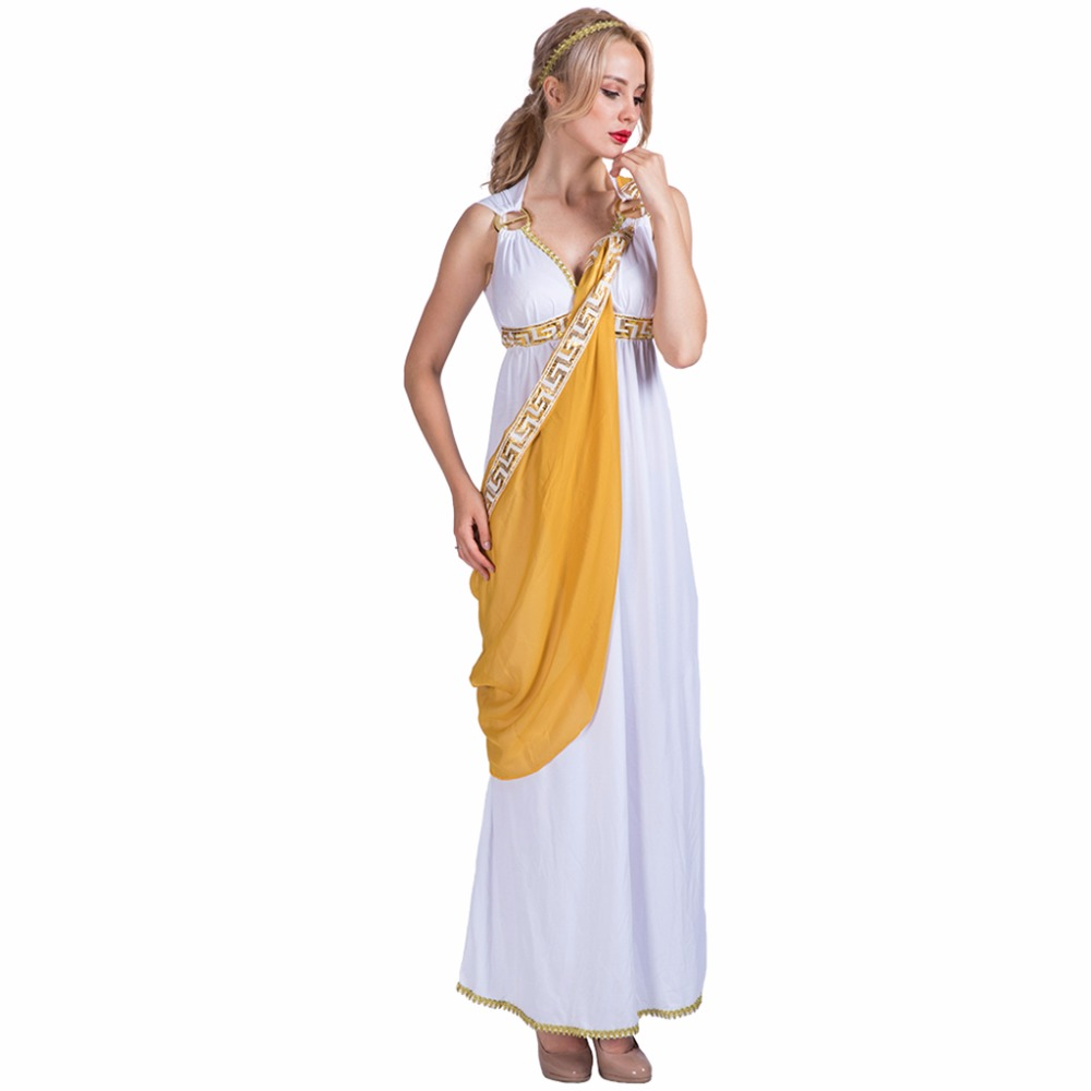 Women Sexy Greek Goddess Roman Lady Egyptian Costume -8001