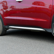 цены ACCESSORIES FIT FOR 2014 2015 2016 HONDA HR-V HRV VEZEL CHROME SIDE SKIRT DOOR LINING BODY MOULDING TRIM COVER