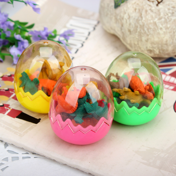 Fashion Students Stationary Gift Dinosaur Egg Pencil Rubber Eraser Color Randomly Delivered