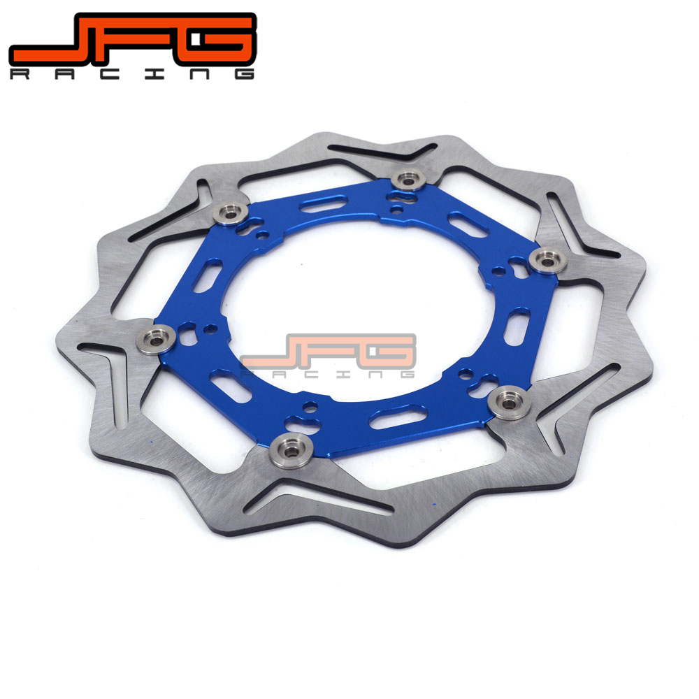 JFG 270mm Front Floating Brake Disc Rotor For WR250F YZ250F YZF250 YZ450F YZF450 WR450F Supermoto Motocross Enduro Dirt Bike front wave disc brake yz yzf wrf yz250 yzf250 yzf450 wrf250 wrf450 motocross enduro supermotard motocross motorcycle