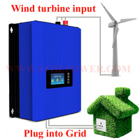 2000W Wind Power Grid Tie Inverter with Dump Load Resistor 45 90V dc to 220V AC MPPT Pure Sine Wave Grid Tie Inverter