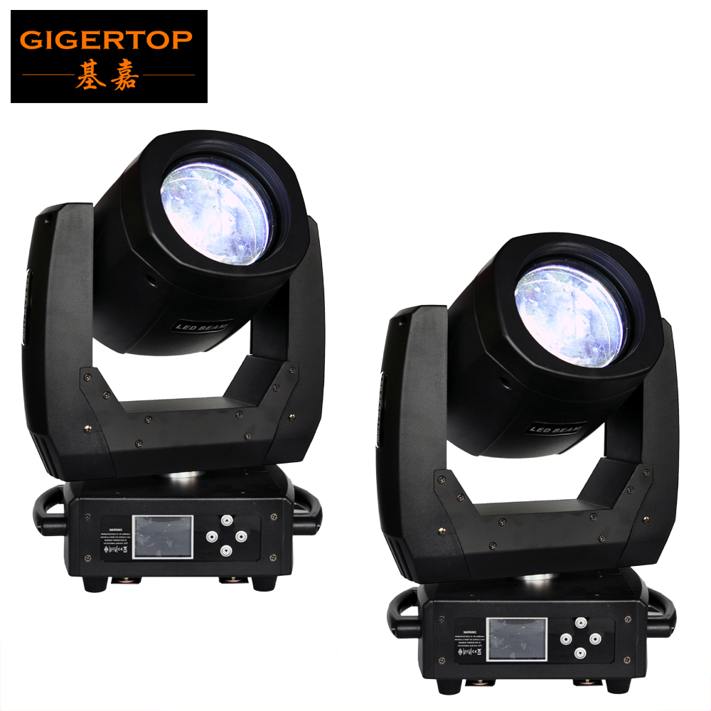 Discount Price 2x 150W Led Beam Moving Head Light 3 -layer HD Optical Glass Lens Electrical Focus Colorful Beam 8 Facet Prism