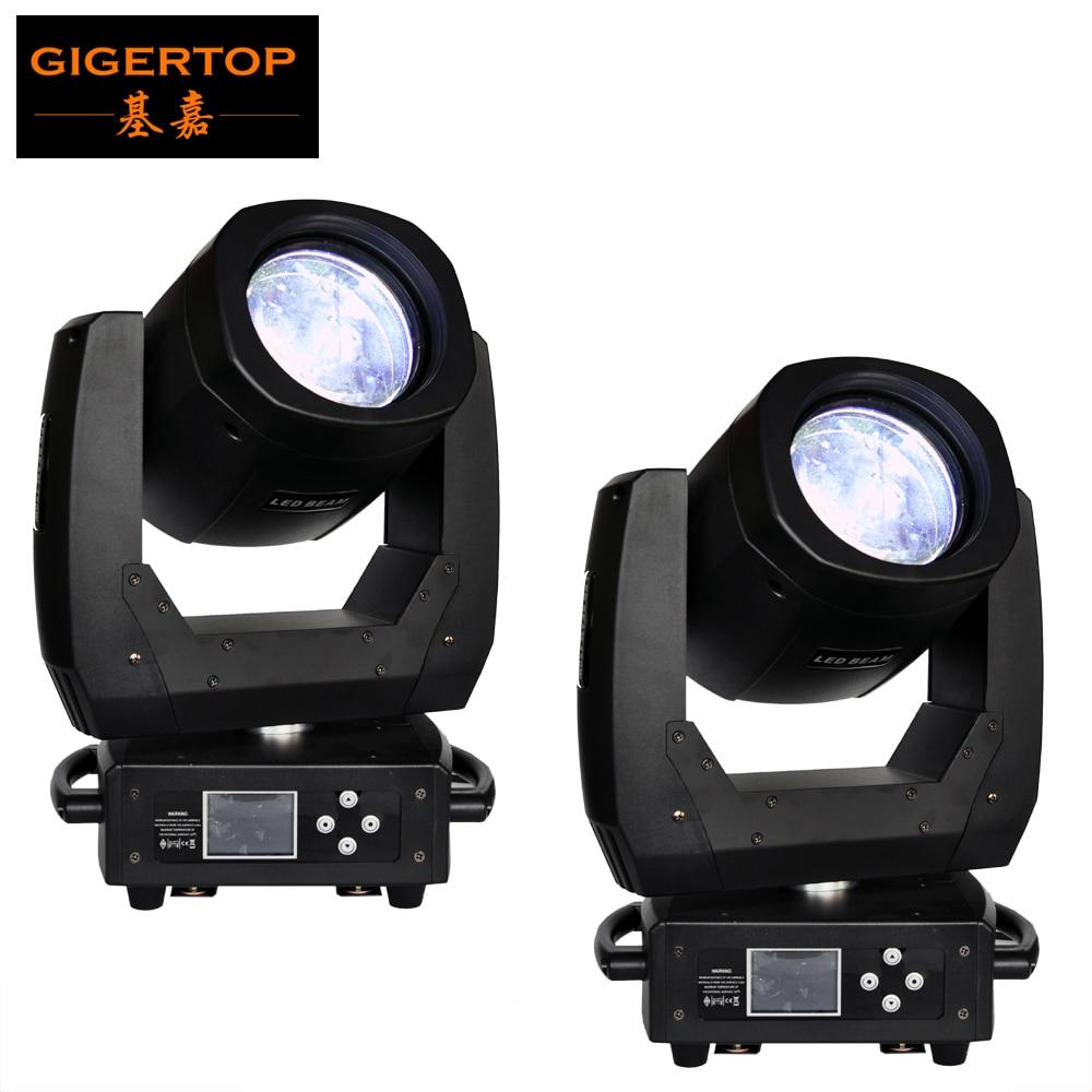 Rabattpris 2x 150W Ledstråle rörligt huvudljus 3-lagers HD Optiskt glaslinser Elektrisk fokus Färgglad stråle 8 Facet Prisma