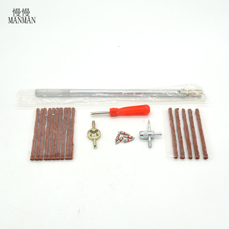 Auto tire valve wrench repair tool/remove wrench set 4 pieces for 2 pack rubber and 5 valve core