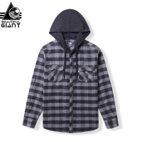 BEAUTIFUL GIANT 2017 Autumn Winter Men Plaid Sweatershirt Long Sleeve Pocket Hoodie Male Pullover