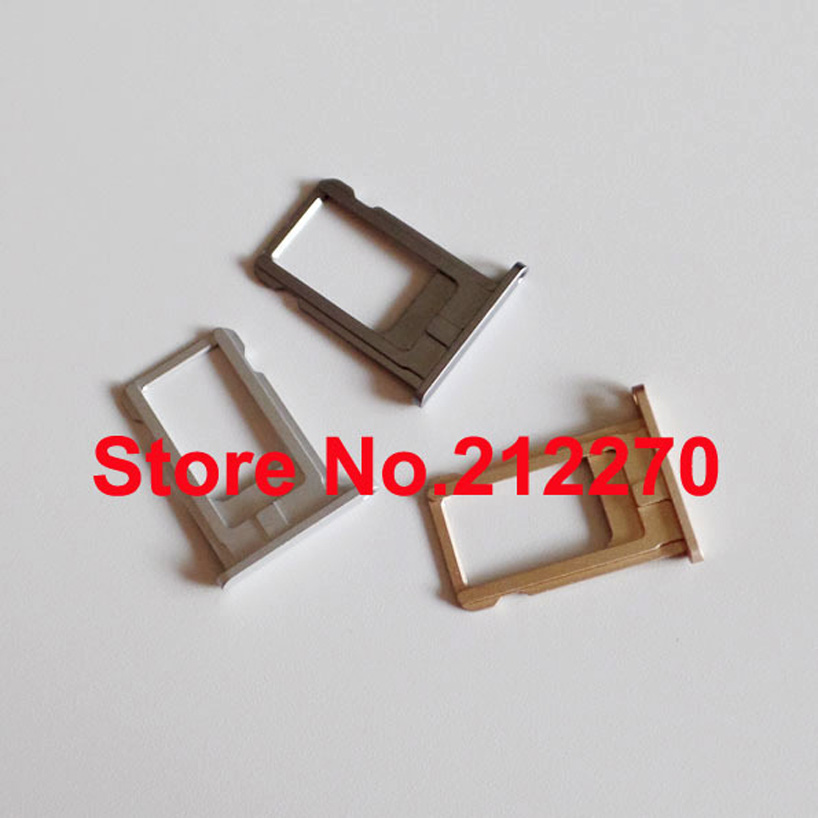 """100pcs/lot Original New Nano Sim Card Tray Slot Holder Replacement Parts For iPhone 6 4.7"""" Gold/Silver/Gray Wholesale"""