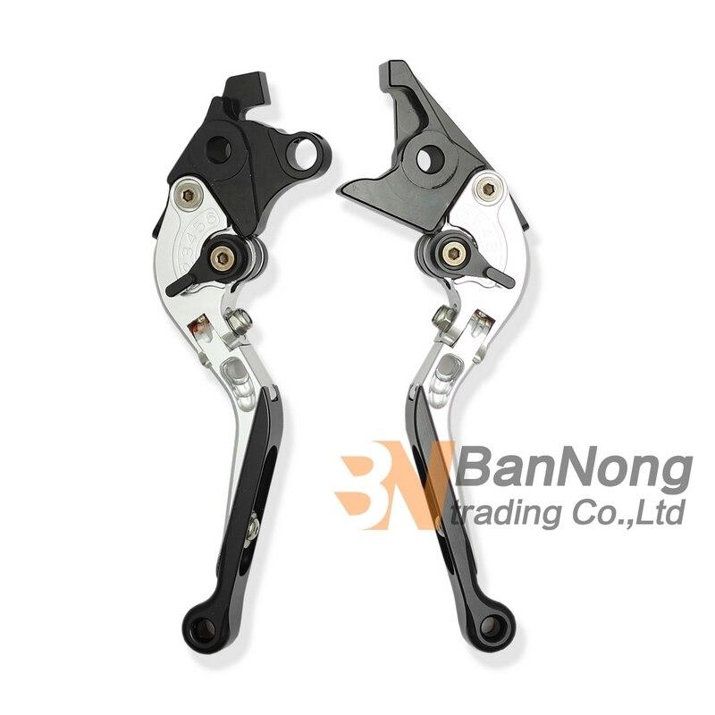 ФОТО Free Shipping motorcycle Modified CNC Aluminum Telescopic folding Brake Clutch Hand Levers For SUZUKI HAYABUSA GSX1300 08-12Year