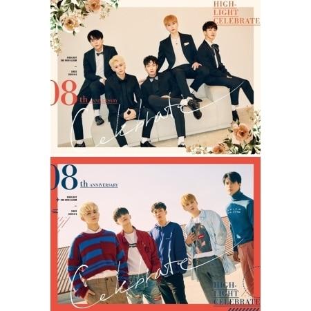 HIGHLIGHT 2nd Mini Album - CELEBRATE - Random Cover 1 piece    Release Date 2017.10.17 bigbang seungri 2nd mini album let s talk about love random cover booklet release date 2013 08 21 kpop