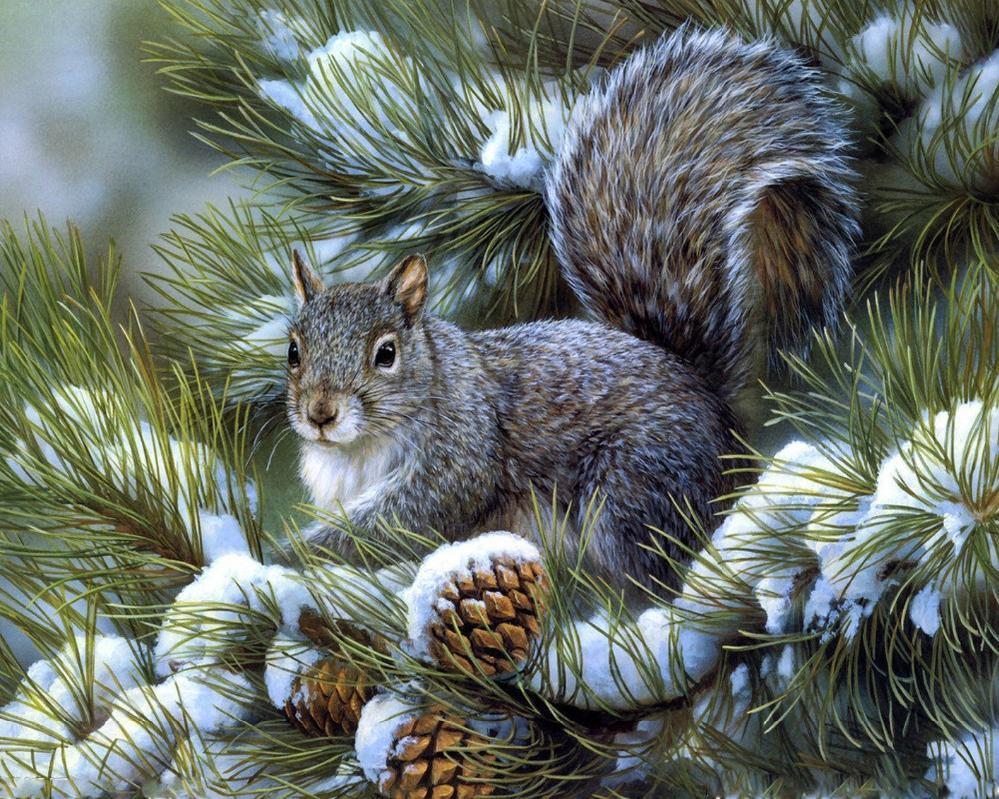 Открытки с добрым утром с детьми и животными зимние
