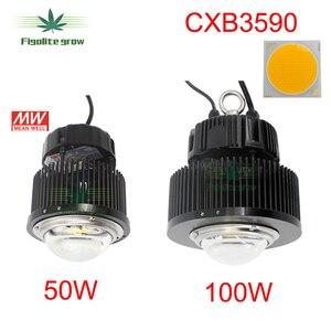 Image 1 - DIY CREE COB CXB3590 oświetlenie led do uprawy z idealnym uchwytem 50 2303CR sterownik Meanwell HBG 100 36B wymienić 400w HPS rosną światła