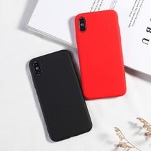 كاندي اللون الهاتف حقيبة لهاتف أي فون XS XR XS MAX 7 8 Plus لينة سيليكون عودة يغطي آيفون 6 6s زائد X موضة جديدة كاباس