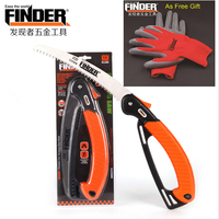 FINDER Portable Bow Folding Saw Garden Tools 9Inc Bonsai Pruning Saw Folding Hand Saw for Camping Trunk Trimming Wood Cutting
