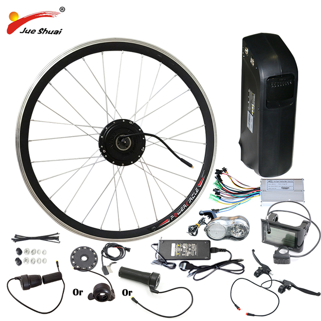 """26"""" 700C(28"""") 48V 10AH 12AH Lithium Battery Electric Bicycle Kit Front Wheel Motor 500W Powerful Electric Bicycle conversion Kit"""