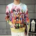 2016 Классический мультфильм новый стиль Harajuku 3D комиксов Dragon ball Z толстовка гоку Saiyan мода стиль толстовки верхняя одежда