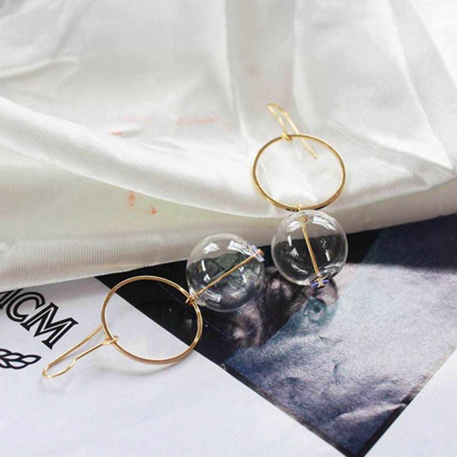 Pendientes Mujer Moda 2018 Modis Perhiasan Baru Korea Unik Kaca Kristal Zirkon Mutiara Anting-Anting Panjang Pengantin Anting-Anting untuk Wanita