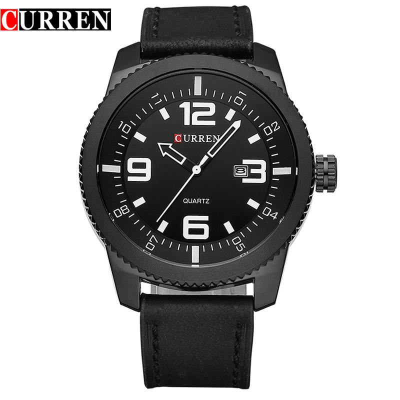 Curren Watches Men Luxury Wristwatch Male Clock Casual Fashion Business sports Wrist Watch Quartz Leather relogio masculino 8180 xinge top brand luxury leather strap military watches male sport clock business 2017 quartz men fashion wrist watches xg1080