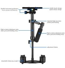 40 cm portátil leve câmera cardan handheld estabilizador steadicam para sony para canhão para nikon para câmeras dslr