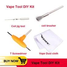 Vape DIY Набор инструментов DIY катушка брушер Т-образная отвертка катушка джиг намотка для RDA RTA атомайзер аксессуары для электронных сигарет