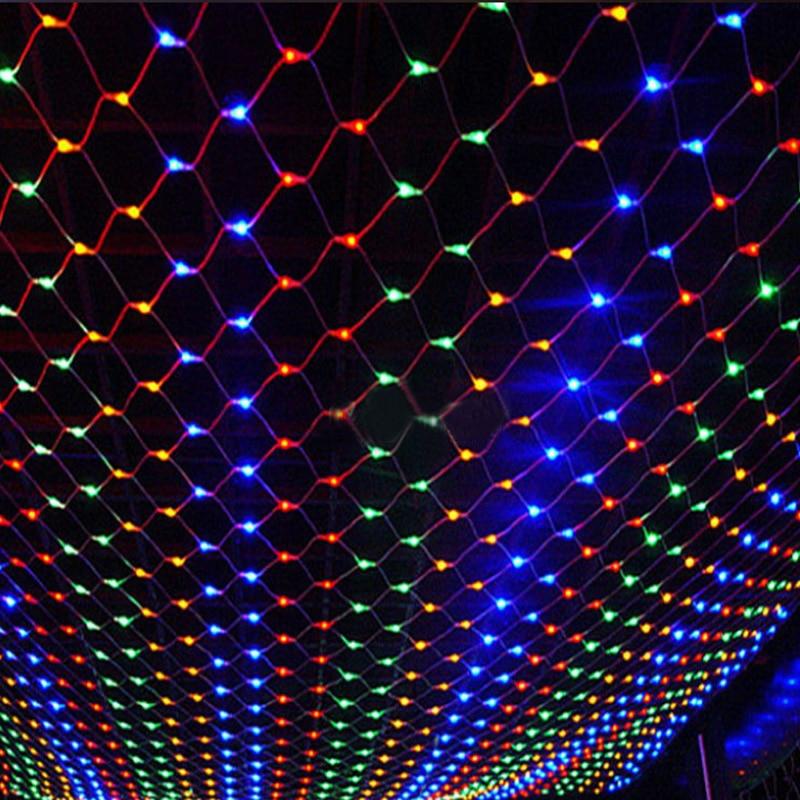 3x2M 1.5mX1.5m Christmas Garlands LED String Christmas Net Lights Fairy Xmas Party Garden Wedding Decoration Curtain Lights цена
