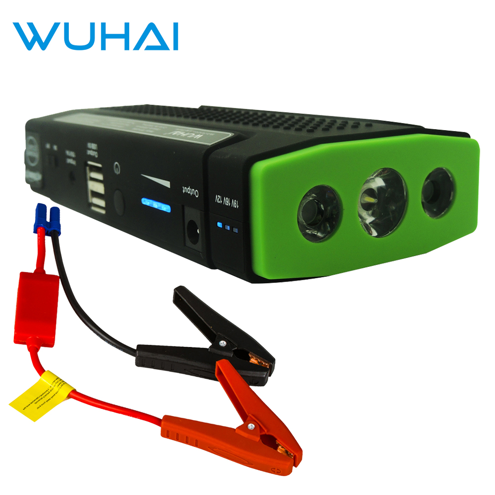 WUHAI Car Jump Starter Portable Vehicle Engine Emergency Start Battery Pack with 3X Led font b
