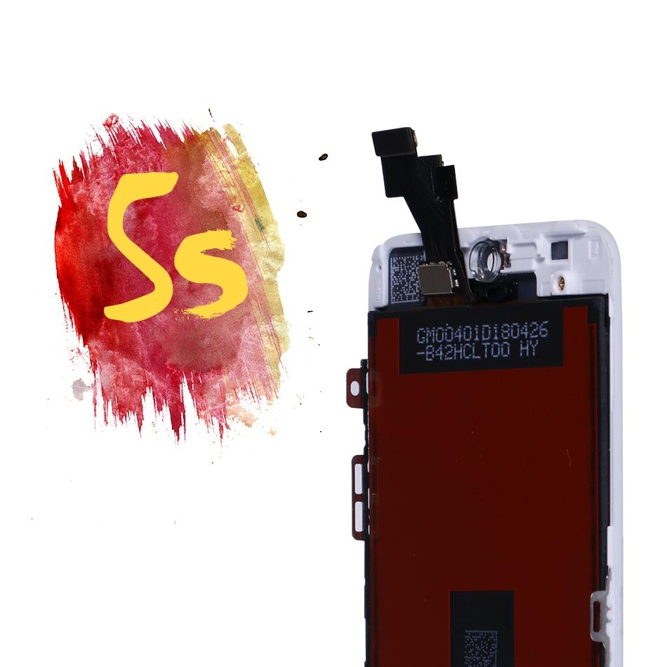 Para el montaje del iPhone 5S SE pantalla táctil LCD del Panel de reemplazo del digitizador para el iPhone 5 piezas SE con las herramientas