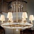 Европейская Хрустальная Подвесная лампа для столовой  гостиной  столовой  простой железный французский креативный K9 светильник для спальн...